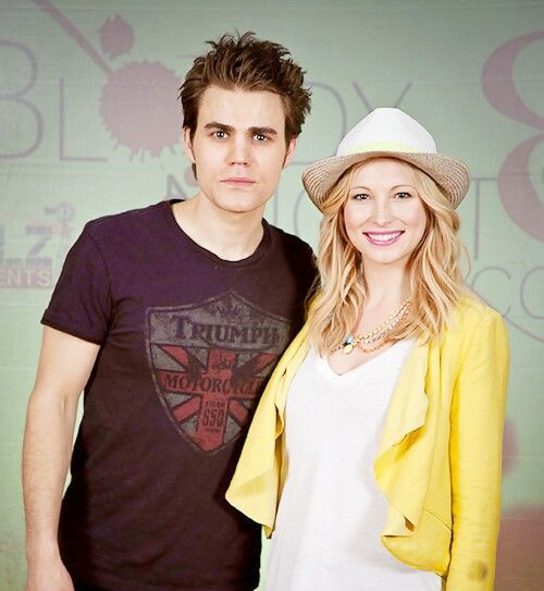 Paul Wesley and Candice Accola.