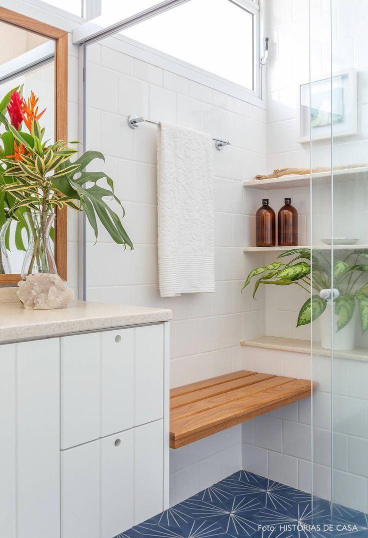 Antes E Depois Interior Do Banheiro Revestimento De Azulejos E