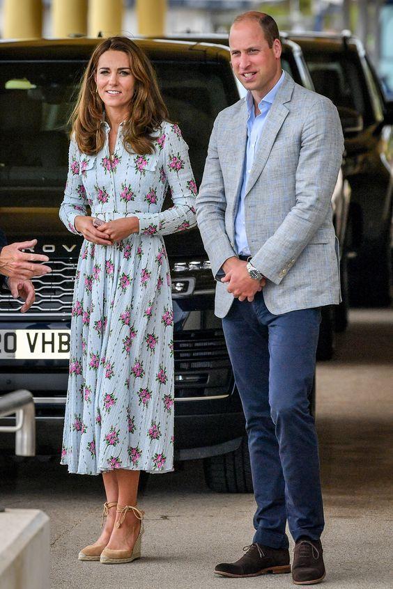 Kate Duchess : duchess, Middleton, Floral, Emilia, Wickstead, Dress, Arcade, Duchess, Cambridge,, Prince, William, Kate,