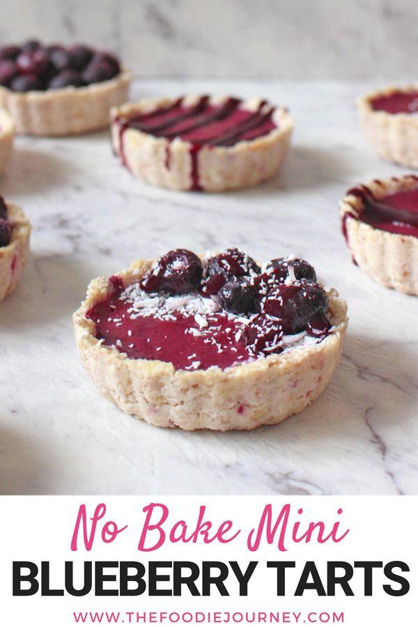 Vegan No Bake Mini Blueberry Tarts