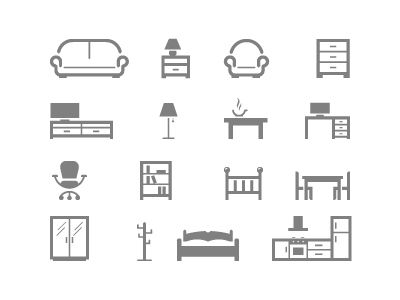 Furniture icons pinterest logotipos muebles and logan for Muebles industriales usados