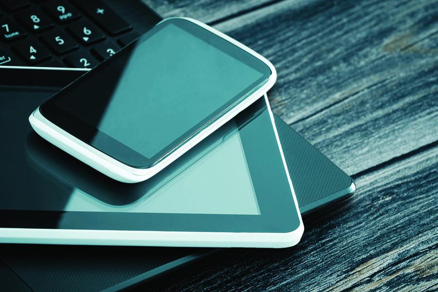 Картинка планшет и сотовый телефон
