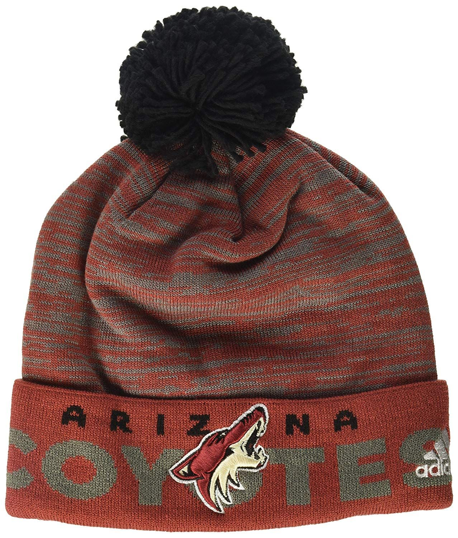designer fashion 9788e 44f17 adidas NHL Arizona Coyotes Adult Men Pro Authentic Cuffed Pom Knit,  16.27