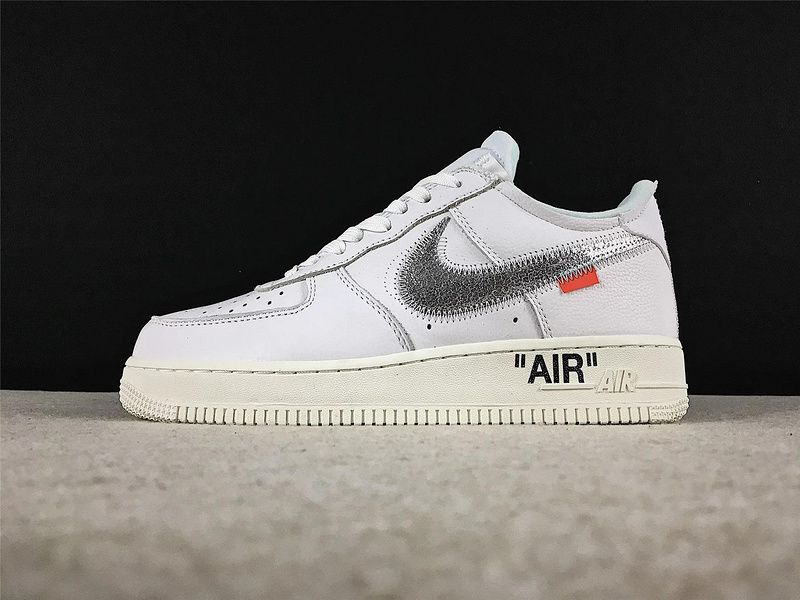 info for 6179c 92ac7 Spring Summer 2018 Newest Off White X Nike Air Force 1 Low White Metallic  Silver Sail Skate A04297 100 Shoe