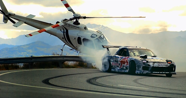Red Bull Rx 7 Goes Drift Crazy On New Zealand S Crown Range Drifting Cars Mazda Rx7 Street Racing Cars