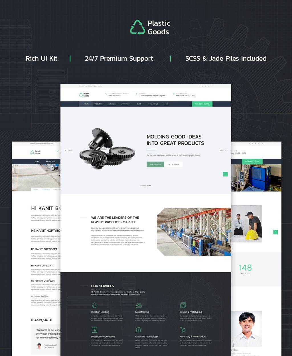 Plastic Goods Business Multipage Website Template Website Business Goods Plastic Business Website Templates Website Template Web Design