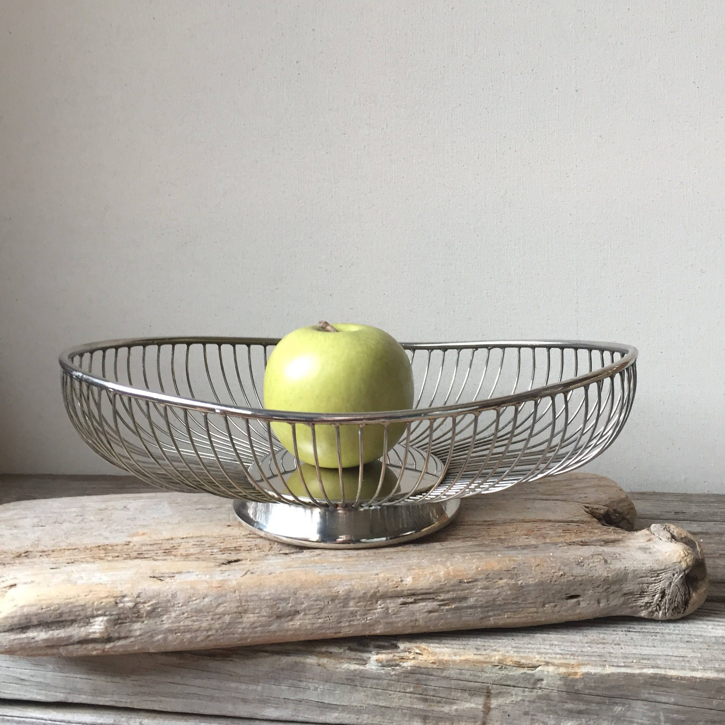 Ferris Shacknove Twin Scoop Wire Fruit Basket - Mid Century Modern