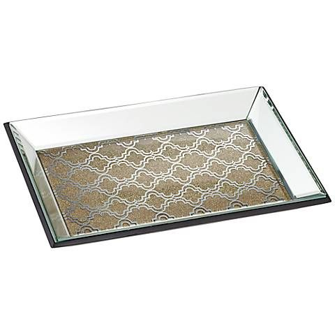 Decorative Mirror Tray Custom Geometric Gold Mirrored Tray  Mirror Tray Trays And Decorative Trays Design Decoration
