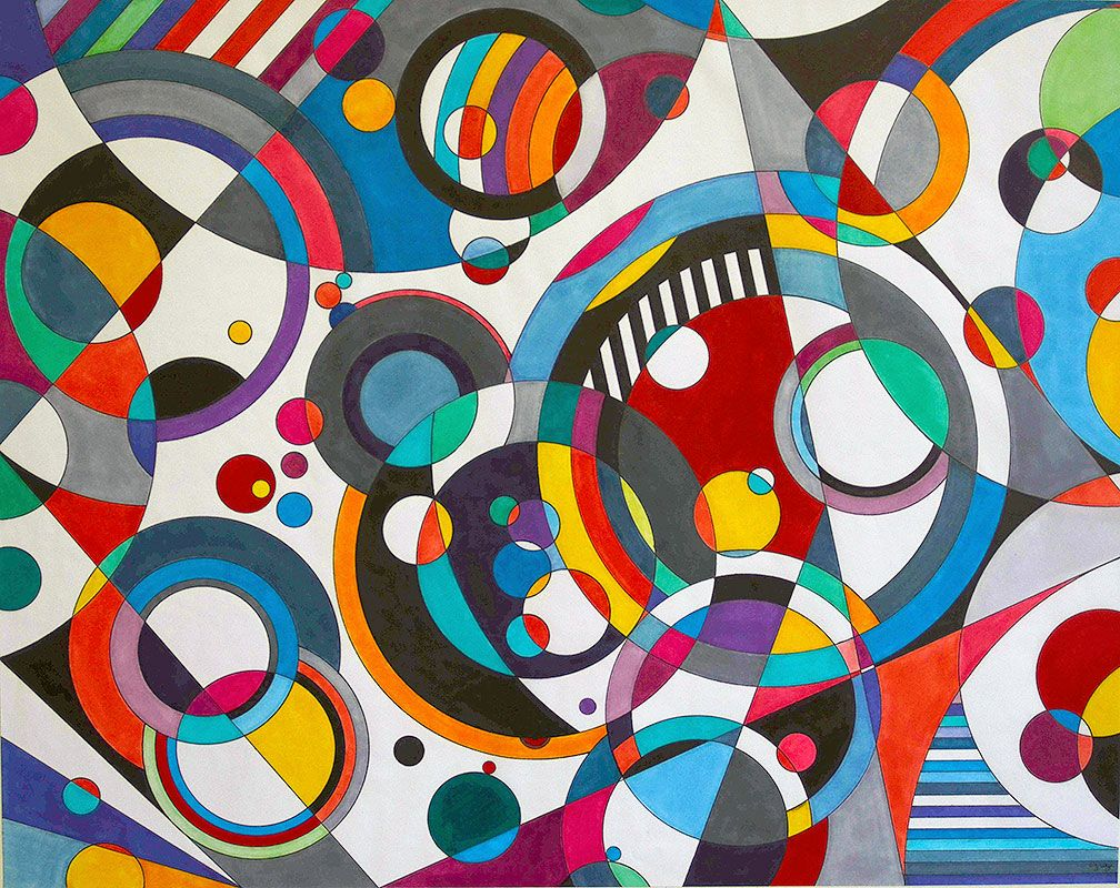Bruce Gray Abstract art lesson, Abstract geometric art