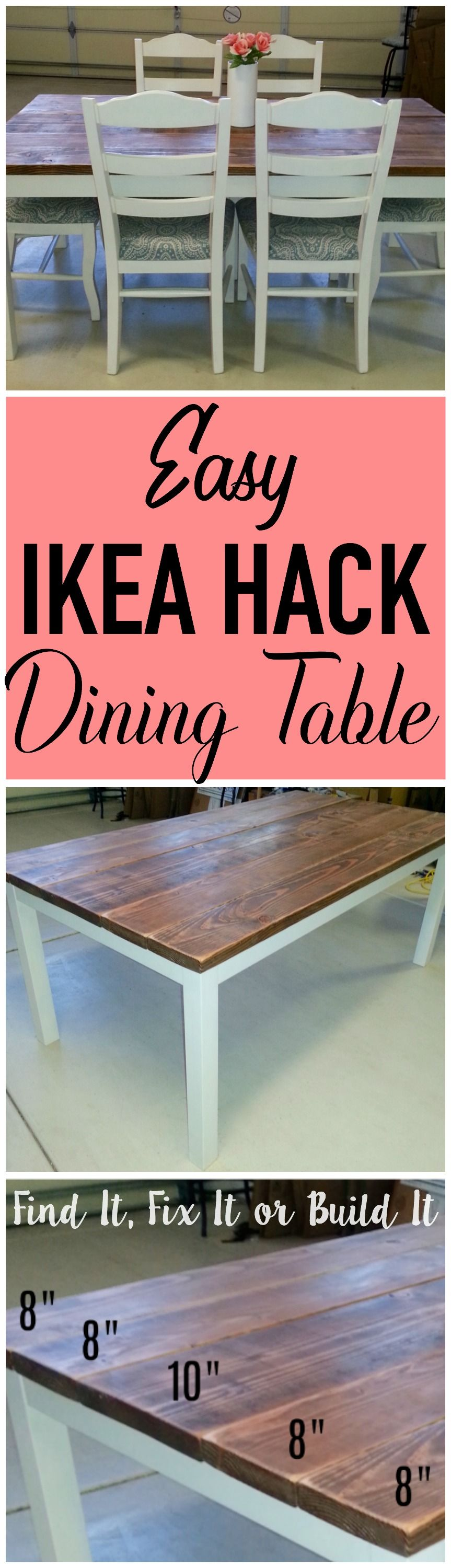 Projects Idea Of Steampunk Dining Table. Transform a basic IKEA dining table into plank style in few  simple steps Tutorial on how to DIY your own BJURSTA hack Turn an old
