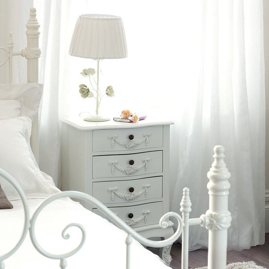 Pretty Bedside Table Home Pinterest - Toulouse bedroom furniture white