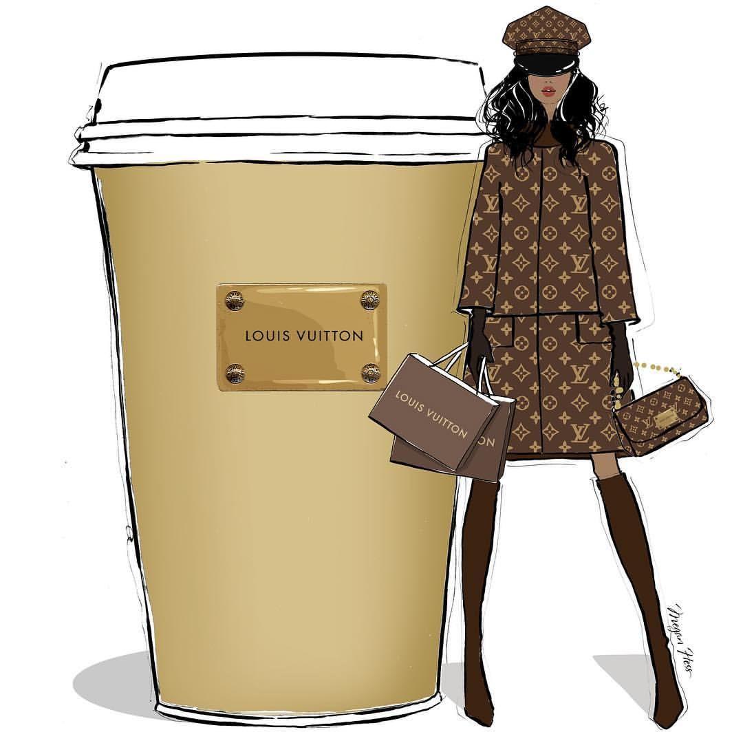 "MEGAN HESS on Instagram: ""Louis Vuitton triple shot Espresso please! #MeganHessCoffeeGirls"""
