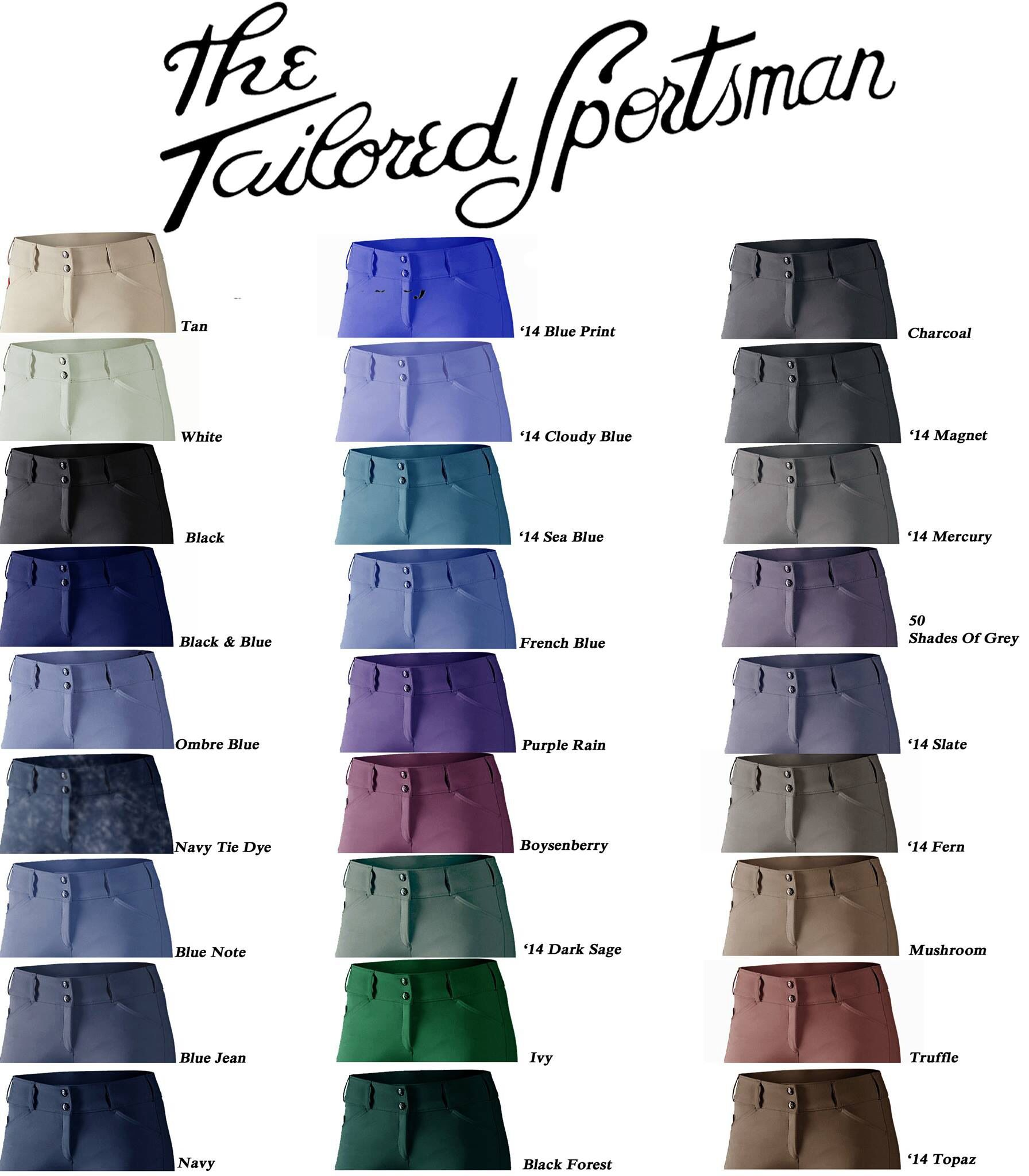 Tailored sportsman low or mid rise side zip or front zip size 32r