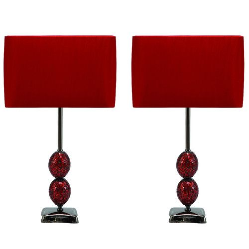 Found it at wayfair urban mosaic cracked 25 table lamp set bedside table lampsmodern