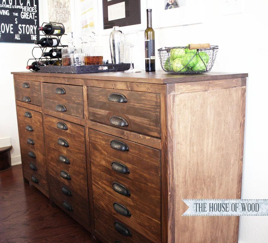 DIY Furniture : DIY Printers Triple Console Cabinet | DIY Furniture ...
