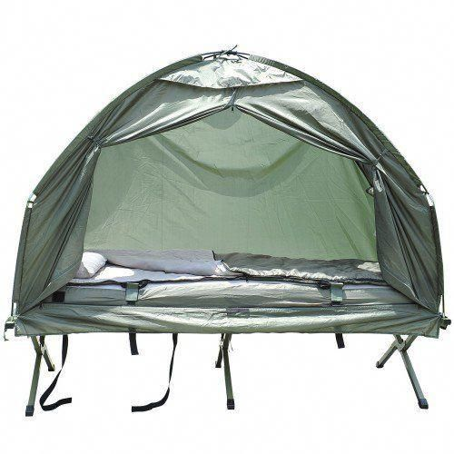 Outsunny Portable Camping Cot Tent With Air Mattress