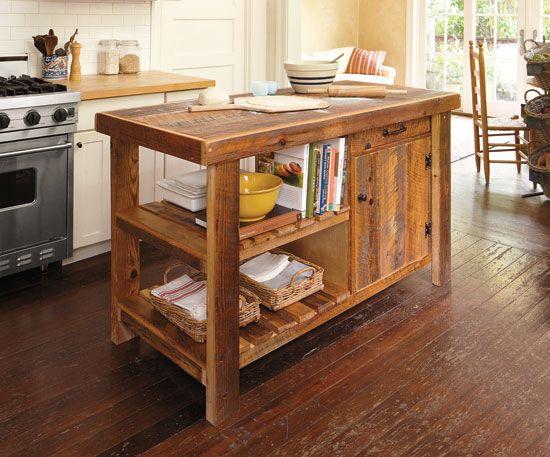 New American Barnwood Island - Islands - Kitchen - Furniture ...