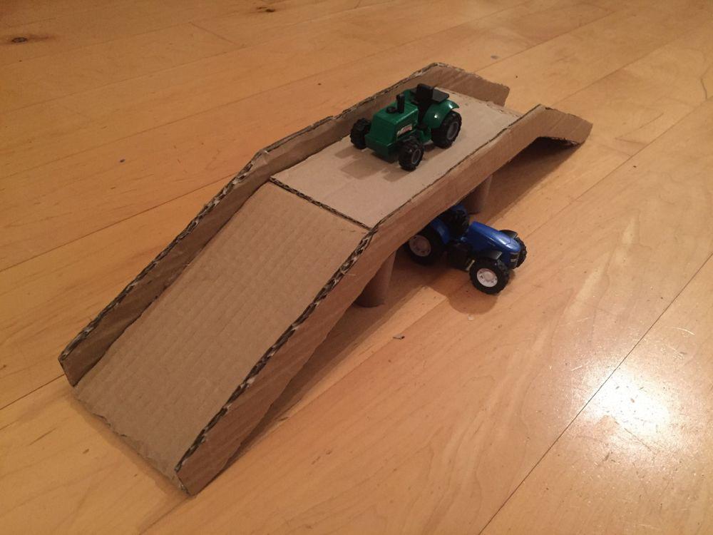 Hot wheel cardboard bridge cardboard toys diy cardboard