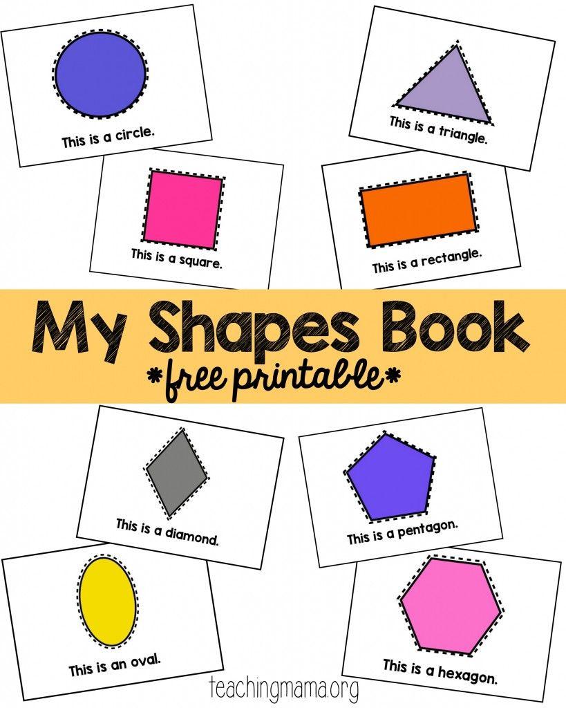 Shape Rhymes Printables Shape Books Shapes Rhymes Shapes Preschool [ 1024 x 819 Pixel ]