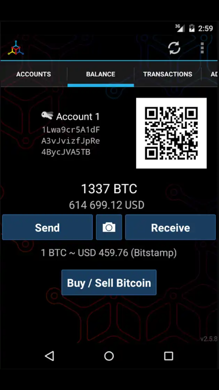 Mycelium wallet for Android Bitcoin wallet, Bitcoin