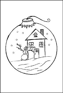 Malvorlage Weihnachtsbaumkugel Ausmalbild