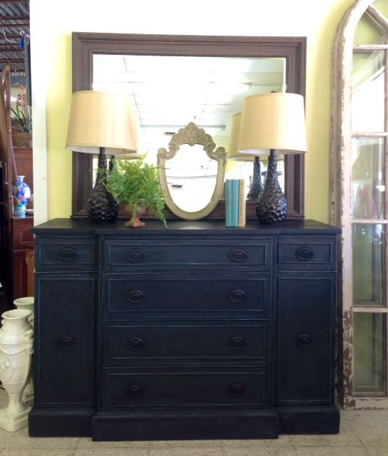 Miss Mustard Seed's Milk Paint buffet at @Consign-it Furniture in Kennett Square. Painted in Kitchen Scale and Typewriter