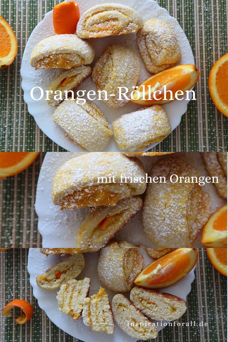 Orangen-Röllchen – Rezept für zarte Kekse mit fruchtiger Füllung #vegetarischerezepteschnell