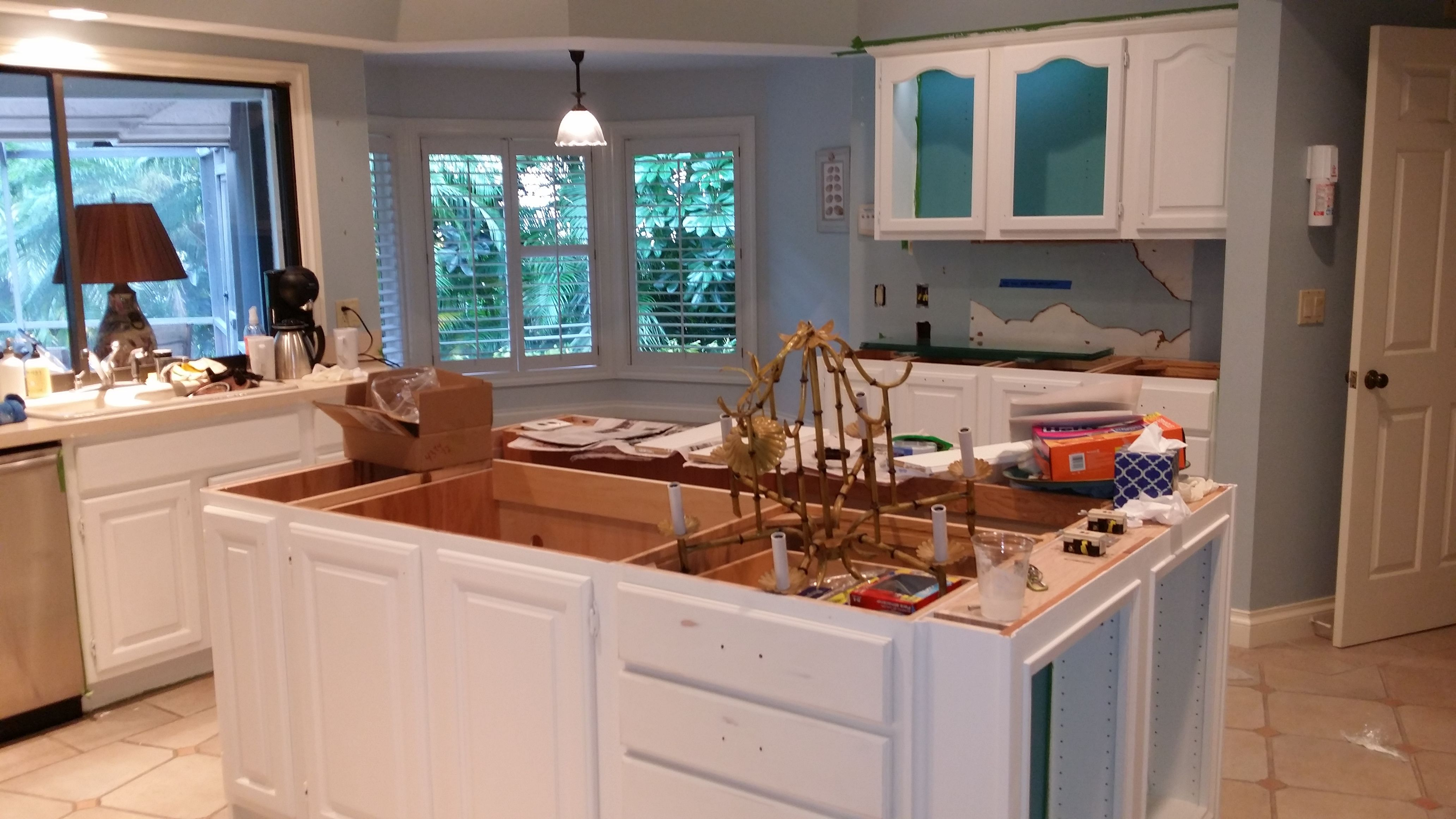 In Progress: Florida Kitchen With Annie Sloan   Pure Old White.