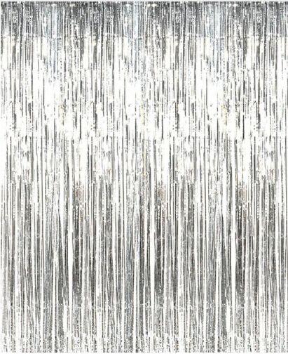 Golden Silver Laser Rain Curtain Silk Curtain Thick Rain Curtain