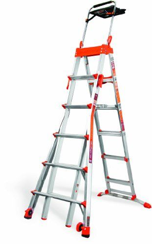 Little Giant Ladder Systems 15109 001 300 Pound Duty Rating Select Step 6 Feet To 10 Feet Adjustable Step Ladder Little Giants Ladder Step Ladders