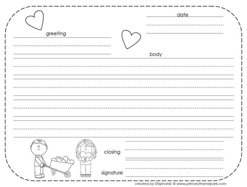 How To Write A Friendly Letter Free Printables Ed Stuff
