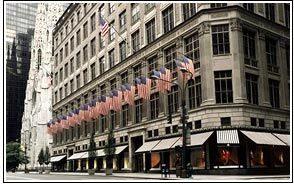 """Sax Fifth Avenue:   """"Shoe lovers, prepare for pump, heel and sandal nirvana when you reach the eighth floor. In a retailing and postal history first, the shoes-only floor is known by its custom zip code: 10022-SHOE."""" A friend says: """"a really cute chocolate cafe"""" is up there too!"""