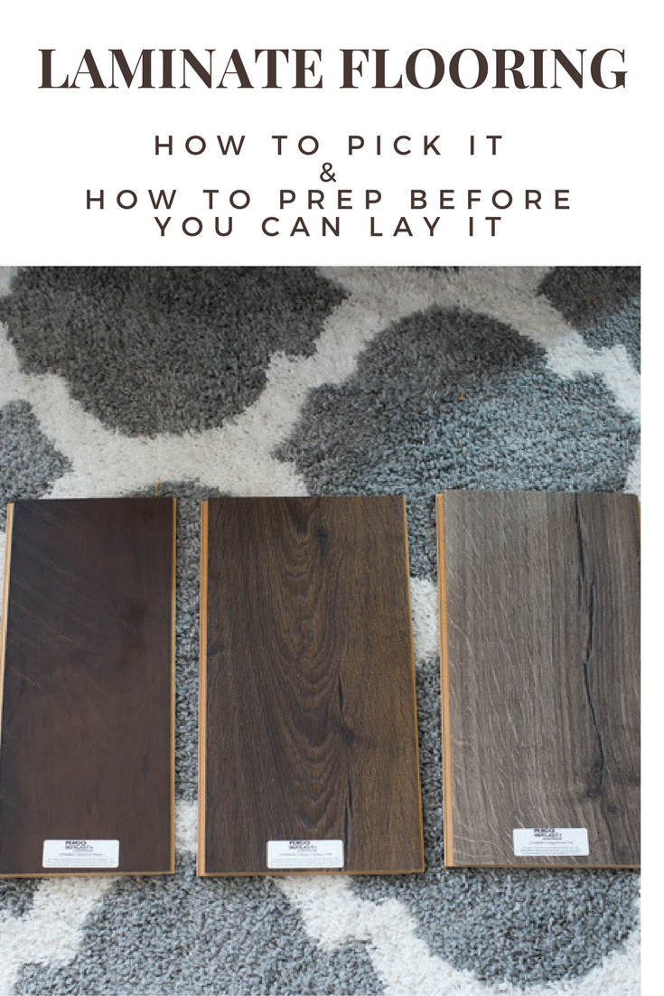 How to Pick Laminate Flooring and how to prep your floors before you install it - all the DIY step-by-step tips plus a Video @genuinepergo #ad