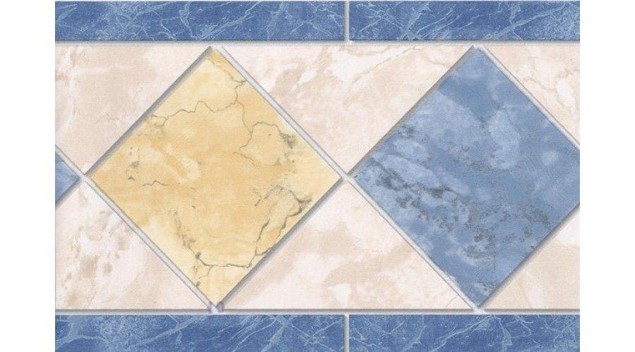 Blue Yellow Cream Tiles Wallpaper Border Cream Tile Wallpaper Border Tile Wallpaper