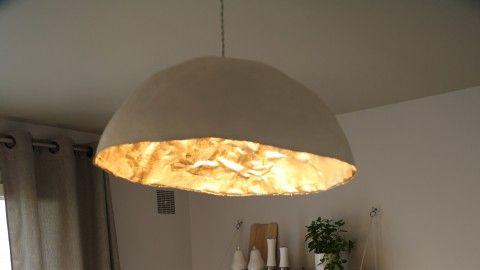 cr ation d 39 une suspension lumineuse en papier mach l 39 atelier d co france 2 paperclay. Black Bedroom Furniture Sets. Home Design Ideas