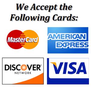 We Accept Visa American Express Master Card Discover Picklex 20