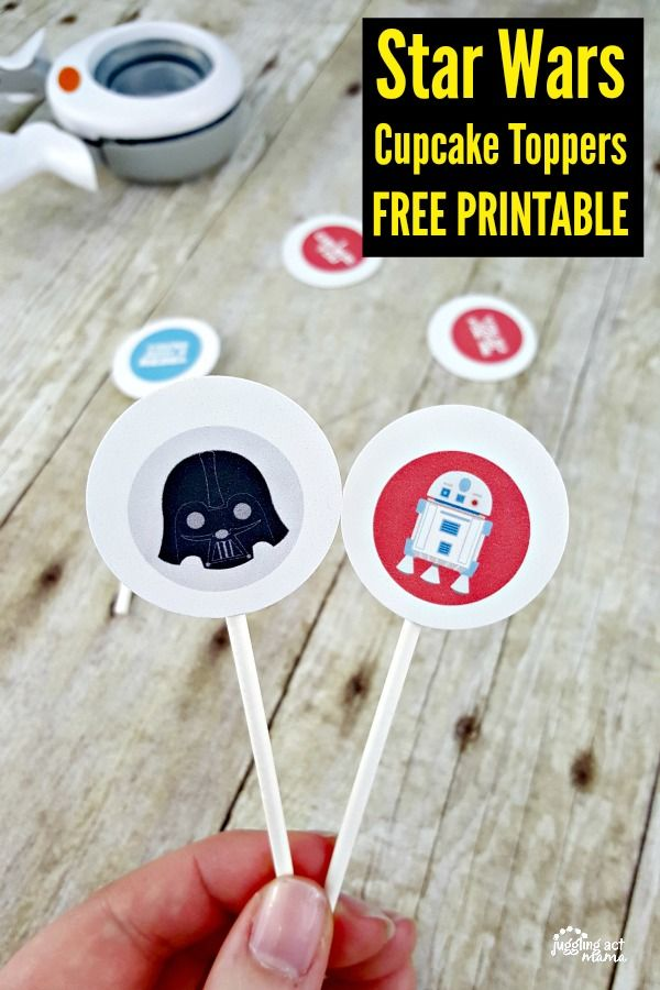 Star Wars Valentine Party Printables | Star wars cupcake toppers ...