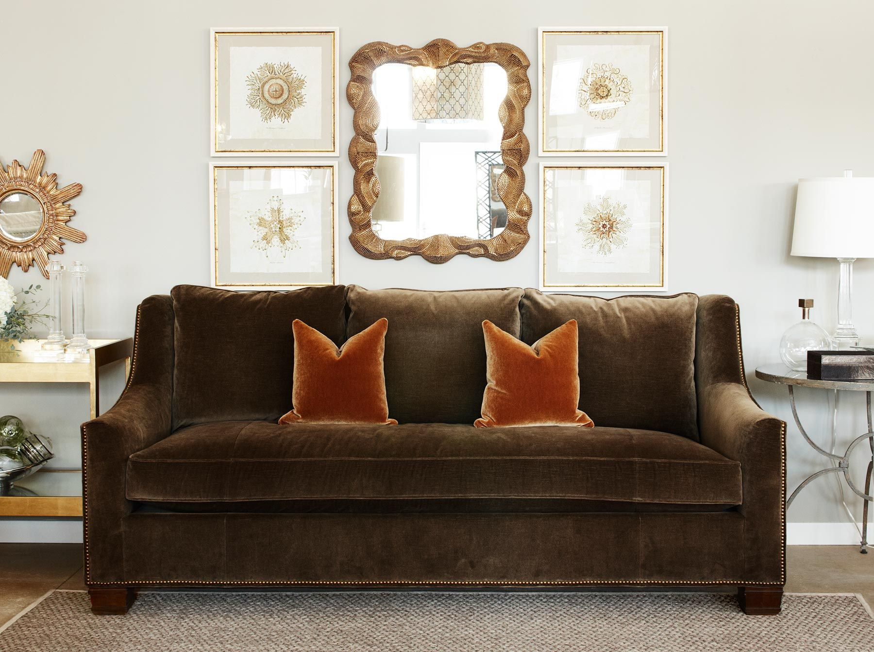 Hickory Chair sutton sofa Showroom Settings