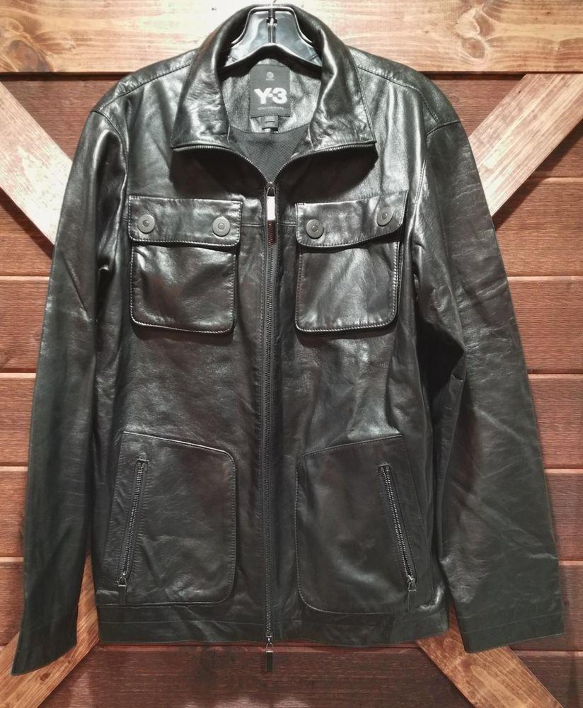 2000 S Adidas Y3 Men S Lamb Leather Jacket Size Medium Black Mesh Liner Rare Ex Lamb Leather Jacket Leather Jacket Black Mesh [ 1000 x 824 Pixel ]