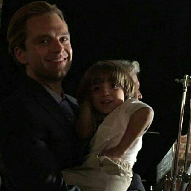 I don't know who's kid this is but he is so precious with children!
