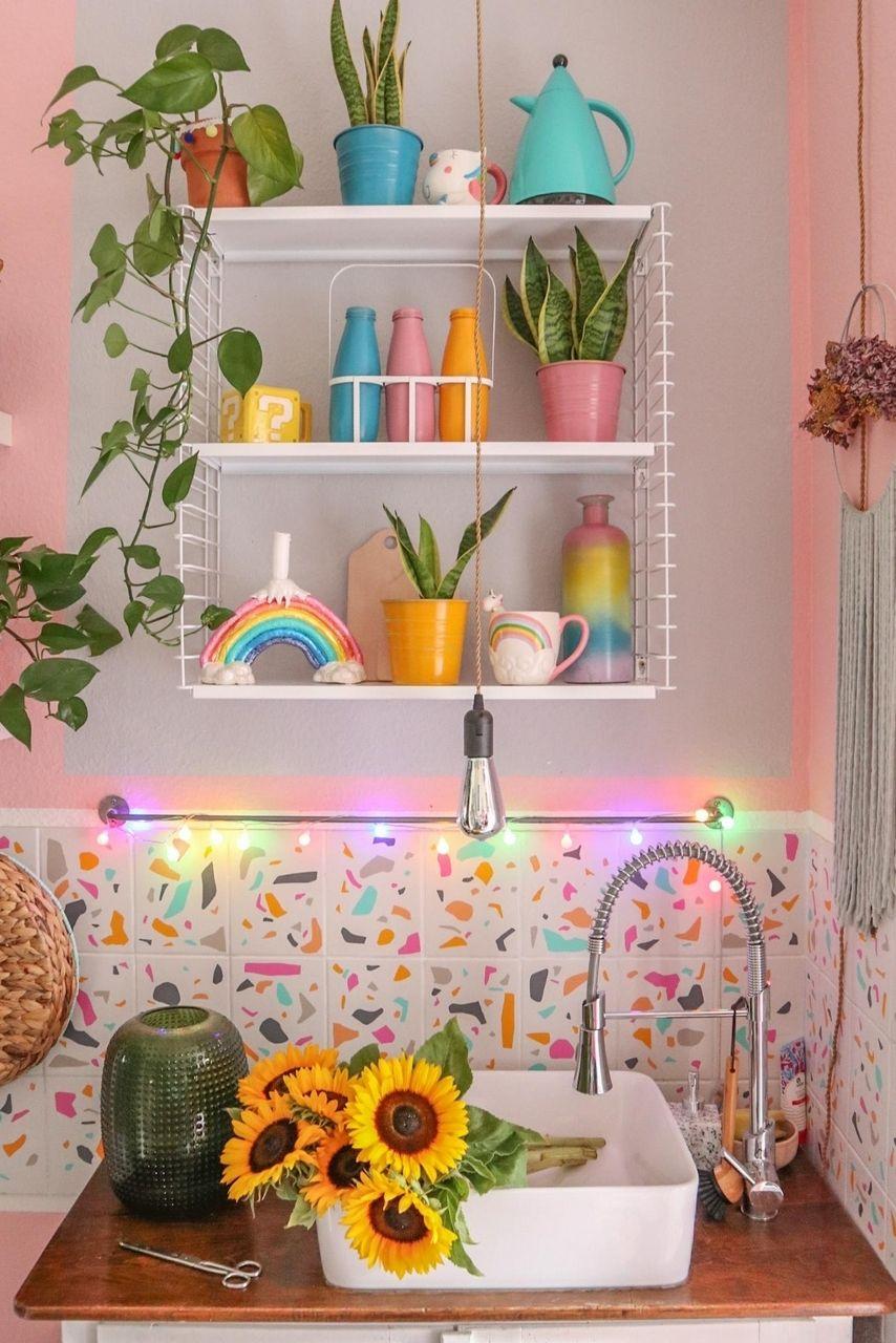 rainbowstyling  kitchen  colorful