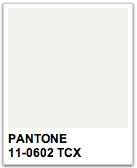 PANTONE WHITE 11-0602 TCX  Pantonera  Pinterest  Pantone