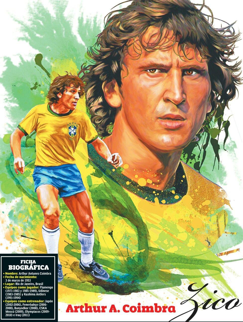 Zico Of Brazil Wallpaper Futebol Pelo Mundo Lendas Do Futebol Selecao Brasileira De Futebol