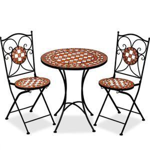 Salon de jardin mosaique Gernika 1 table 2 chaises | Salons and Tables