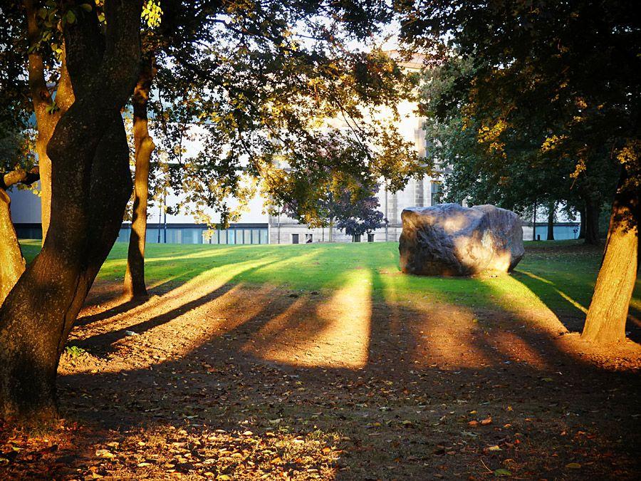 Abschied von der Kunsthalle in der Herbstsonne
