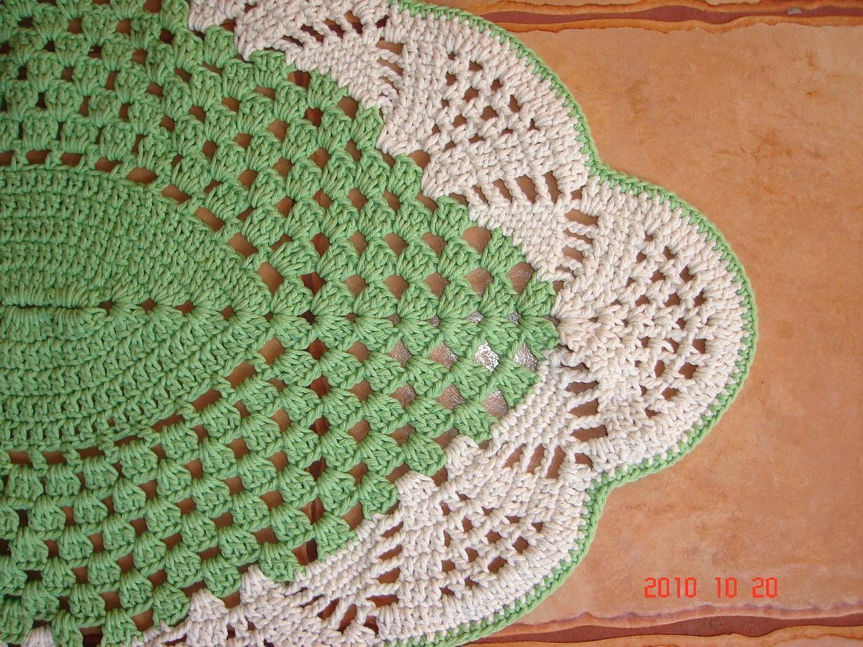 Baiduimage tapete oval de croche grande em barbante com for Tapetes de crochet