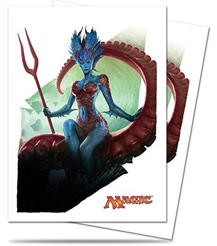 Collectible Trading Card Playmats - Magic the Gathering  MTG Battle for Zendikar Kiora Master Depths Card Sleeves 80 Count Deck Protectors * Want to know more, click on the image.