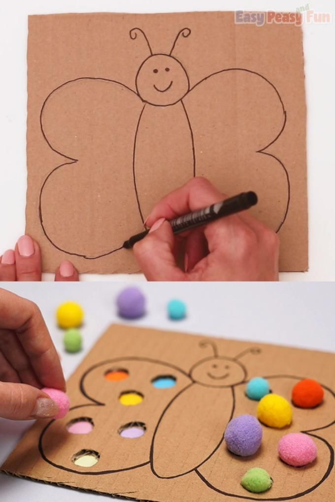 Cardboard Butterfly Color Matching Activity