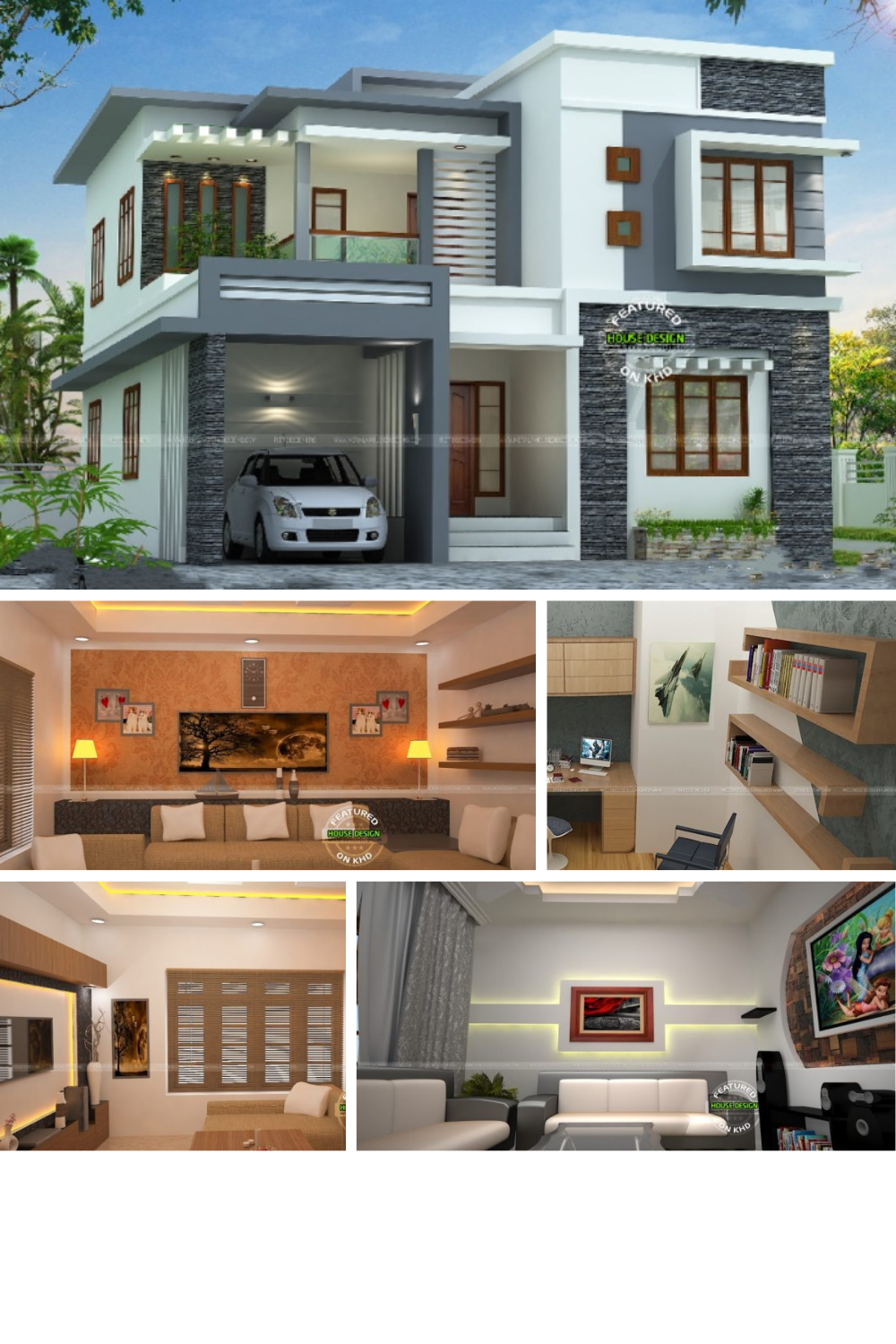 Spectacular Contemporary Two Story Residence With Interior Design Concepts In 2020 Concept Design House Design Interior Design Concepts