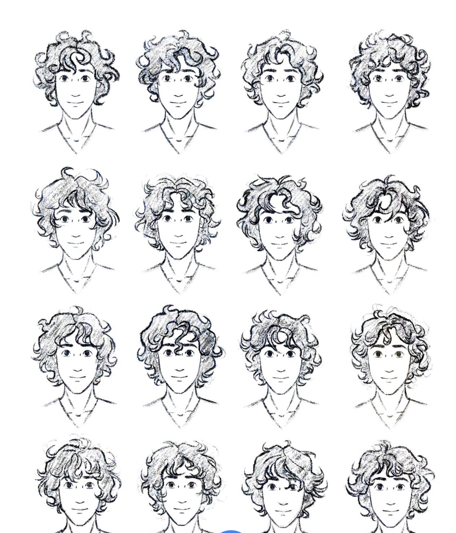These Are Some Examples Of Guys With Curly Hair If You Want To Learn How To Draw Some Curly Hair Drawing Boy Hair Drawing Hair Sketch